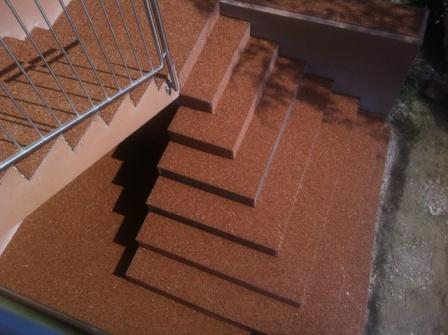 Epox Beschichtungen Stiegenverkleidung Stiegenbeschichtung Dekorstiege Steinteppich 04